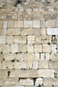 Israel - Jerusalem - Detail of  the Western ('Wailing') Wall