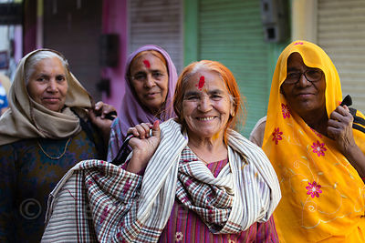 Lovely elderly ladies Pushkar, Rajasthan, India. The woman at center walked up to me, insisted I take her photo, and then swe...