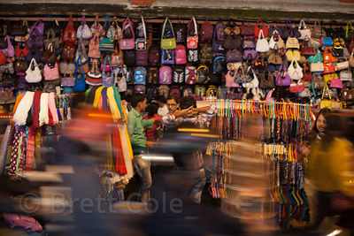 Leather handbags for sale at Newmarket, Kolkata, India. Search my catalog for leather to see more photos of the leather makin...