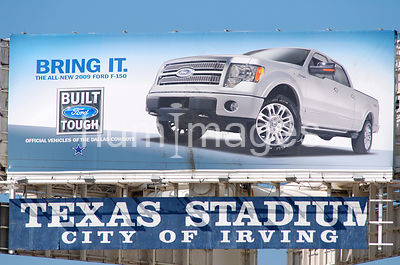 Ford Advertisement sign at Texas Stadium in Irving, Texas