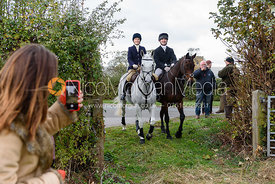 Lady Eliza Manners, Lady Alice Manners at Belvoir Hunt Opening Meet 2018