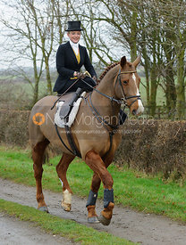 Helen Lovegrove - The Belvoir Hunt at Sheepwash 31/12
