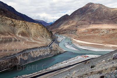 The Zanskar river near Nimmu where the river meets the Indus, Ladakh, India