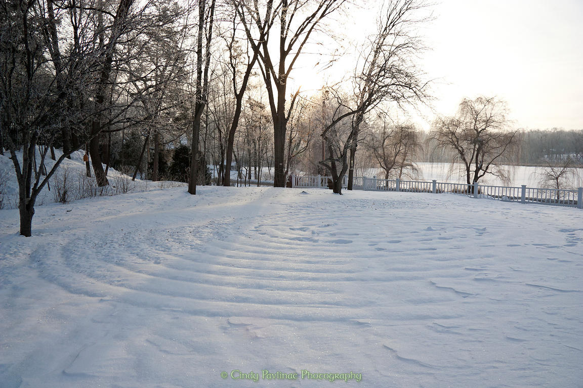 Cindy Pavlinac Photography   Winter Labyrinth in Snow