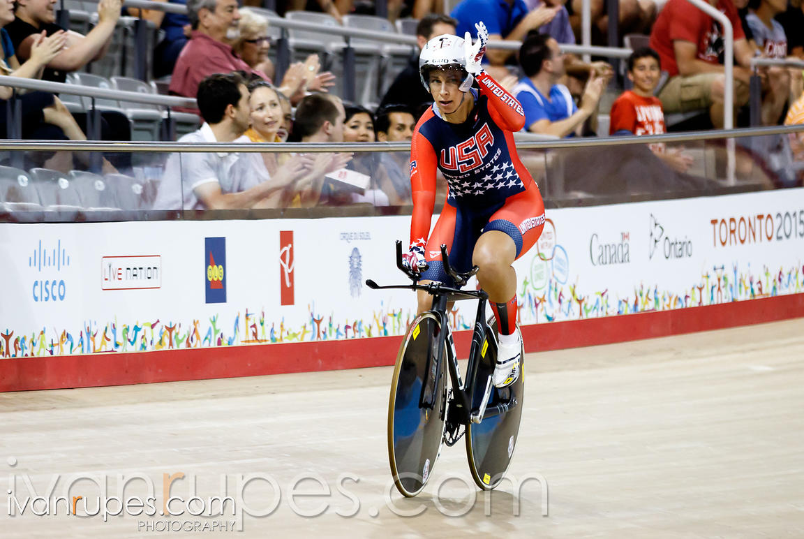 Women's Omnium Individual Pursuit. Track Day 3, Toronto 2015 Pan Am Games, Milton Pan Am/Parapan Am Velodrome, Milton, On; Ju...