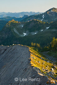 The Railroad Grade lateral moraine created by the Easton Glacier on the slopes of Mt. Baker, Mt. Baker–Snoqualmie National Fo...