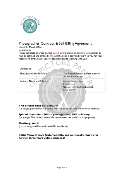 Picture Pantry RF Contributor Contract