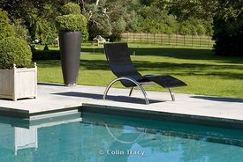 Sun-Lounger in Resin and Stainless Steel by GK Mouldings