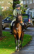 Zoe Hatton - The Cottesmore Hunt at Braunston, 12-11-13.