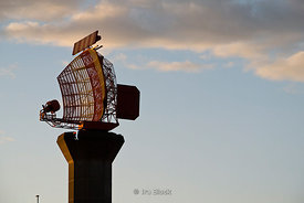 Radar Tower at Heathrow Airport in London, UK.