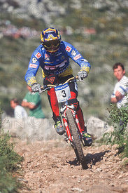 NICOLAS VOUILLOZ CAP D'AIL, FRANCE. GRUNDIG DOWNHILL WORLD CUP 1995