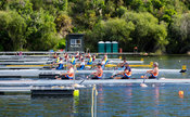 Taken during the World Masters Games - Rowing, Lake Karapiro, Cambridge, New Zealand; ©  Rob Bristow; Frame 420 - Taken on: T...