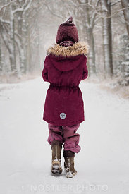 Purple winter clothes