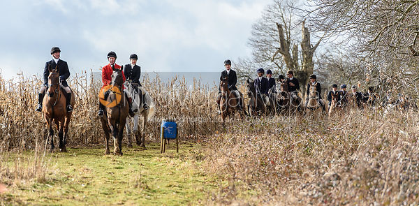 The mounted field at Coxton Park. The Belvoir Hunt at Eaton Grange 7/2
