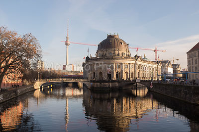 The Bode Museum and the TV Tower in Berlin