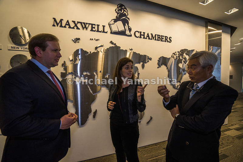 Discussion for an upcoming arbitration process unfolded at Maxwell Chambers, the world's first integrated dispute resolution ...