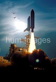 The Space Shuttle Discovery soars skyward from Launch Pad 39B on Mission STS-64 at 6:22:35 p.m. EDT, September 9, 1994