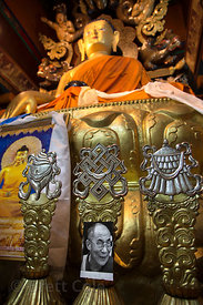 Photo of the Dalai Lama in Spituk Gompa, Leh, Ladakh, India