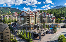 Summer exterior of The Westin Whistler on a beautiful sunny day.