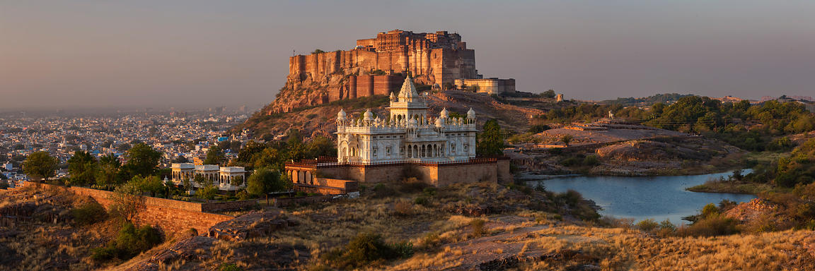 Mehrangarh Fort and Jaswant Thada Crematorium at Dawn