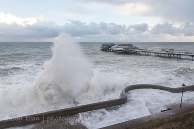 High tide at Cromer Pier