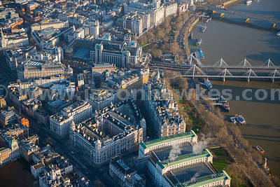 Aerial view of Charing Cross Station, London