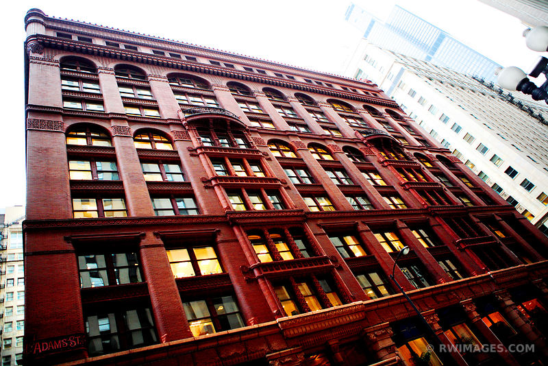 CHICAGO ARCHITECTURE DOWNTOWN CHICAGO COLOR