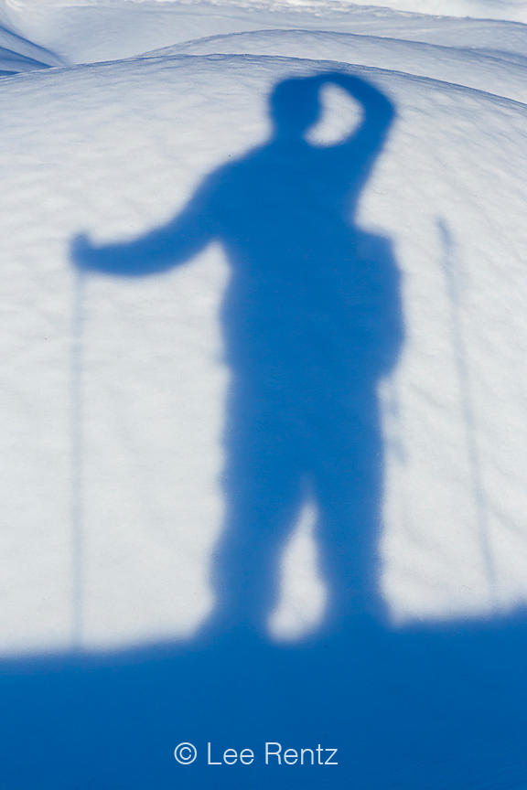 Shadow of Photographer on Snow at Mount St. Helens
