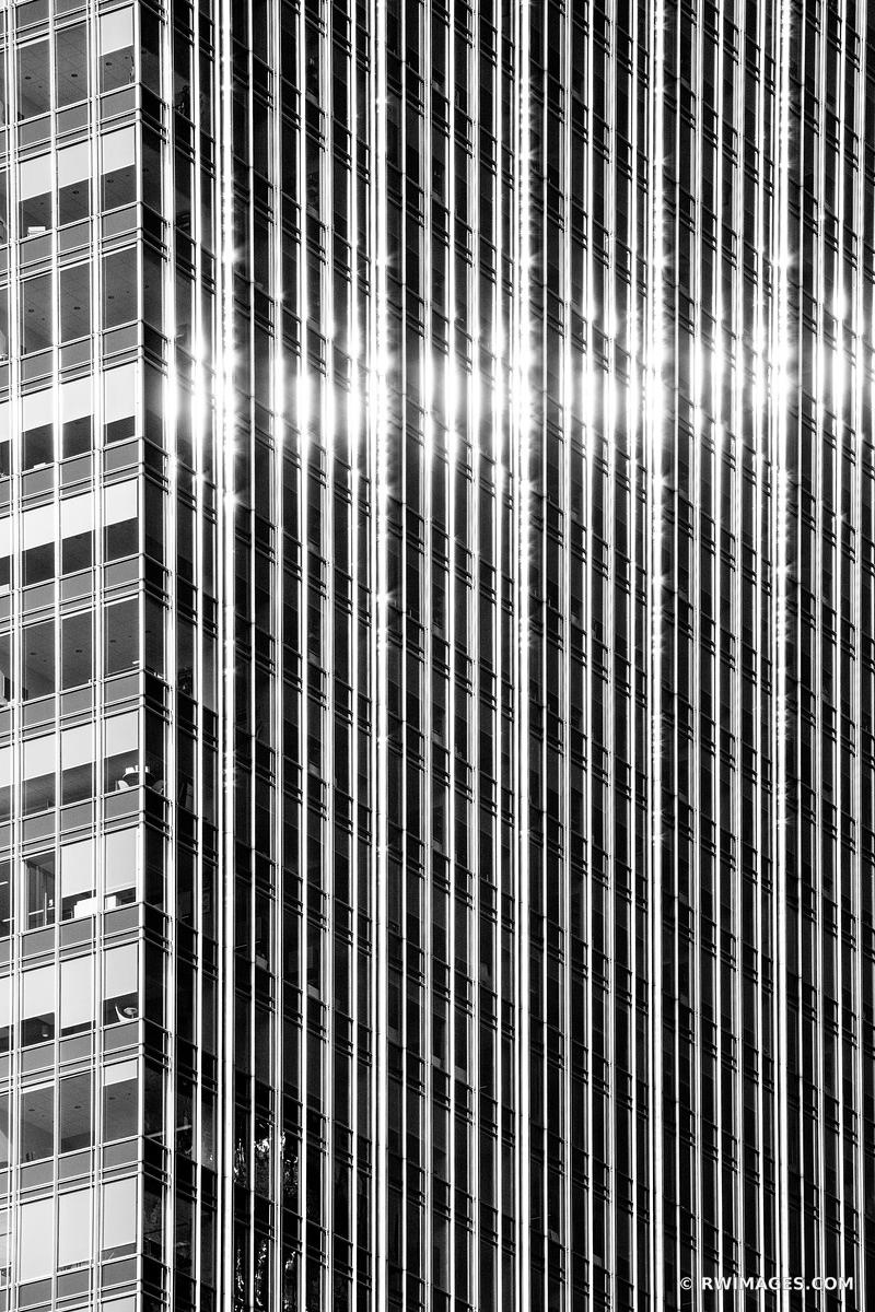 MODERN ARCHITECTURE ABSTRACT CHICAGO ILLINOIS BLACK AND WHITE VERTICAL