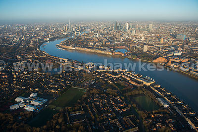 Aerial view of Rotherhithe, London