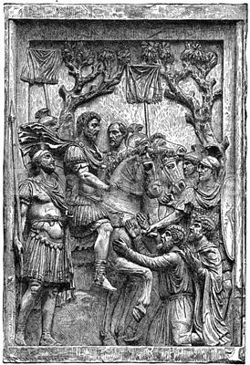 Parthian captives before Marcus Aurelius