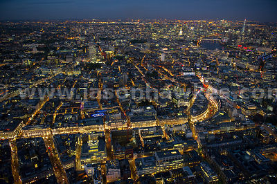 London. Aerial view of Soho