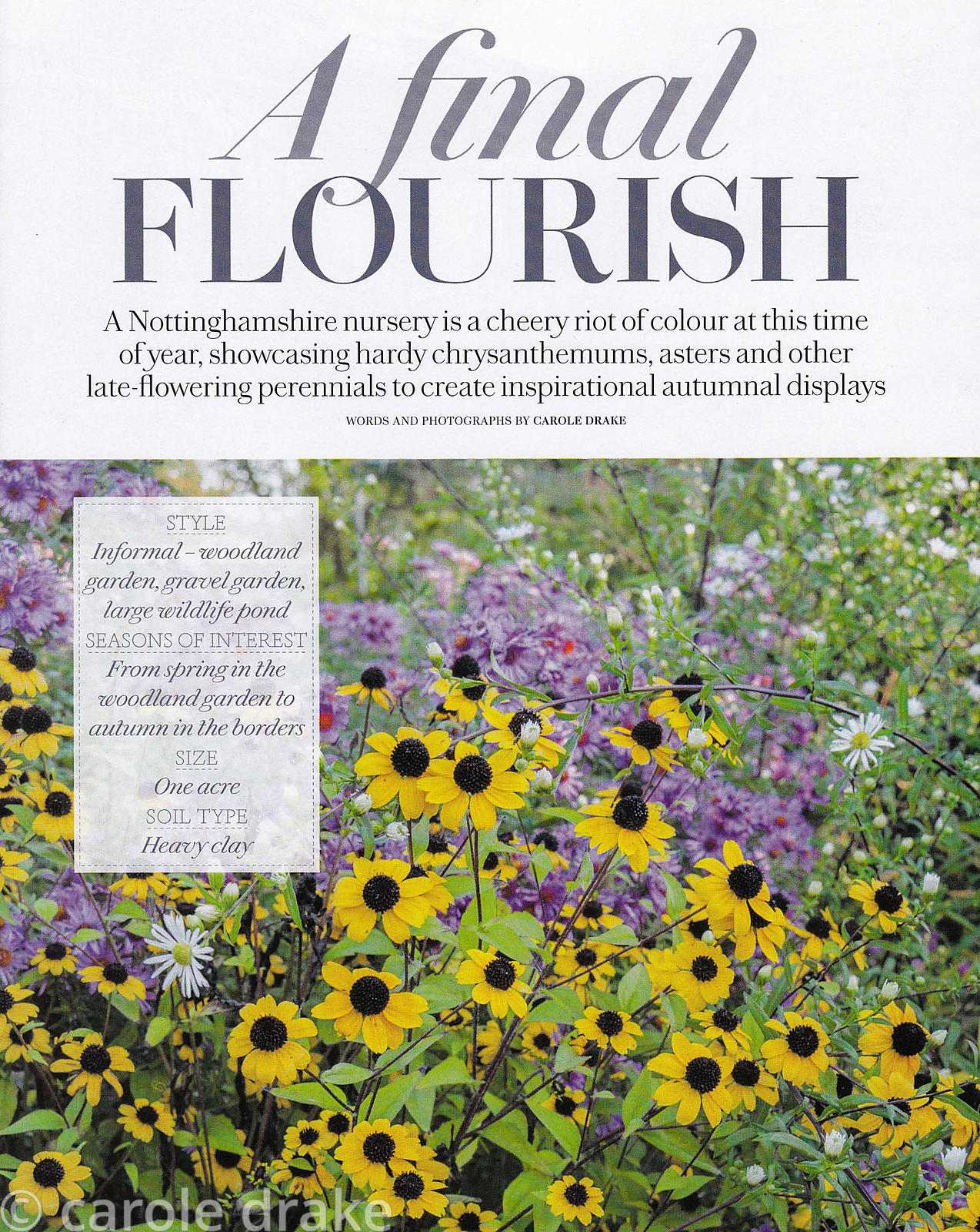 Norwell Nursery, Country Living, November 2014
