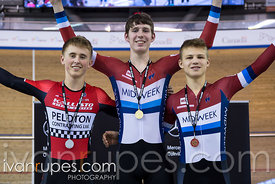 U17 Men 500m Time Trial Podium. Ontario Track Championships, March 4, 2018