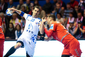 Josip Valcic during the Final Tournament - Final Four - SEHA - Gazprom league, Bronze Medal Match Meshkov Brest - PPD Zagreb,...