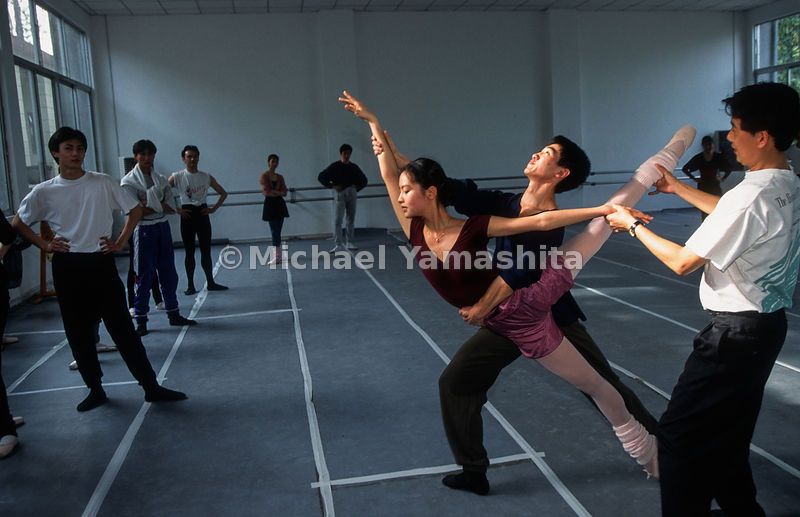 Guangzhou Ballet Troop. 50 performances a year. 40 members + 3 Russians.Guangzhou, China