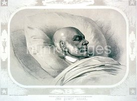 John Quincy Adams  sketch'd by Arthur J. Stansbury Esqr. a few hours previous to the death of Mr. Adams