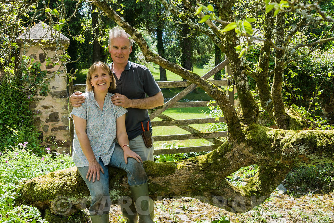 Peter and Linda Lindley. Hidden Valley Nursery, Old South Heale, High Bickington, north Devon, UK