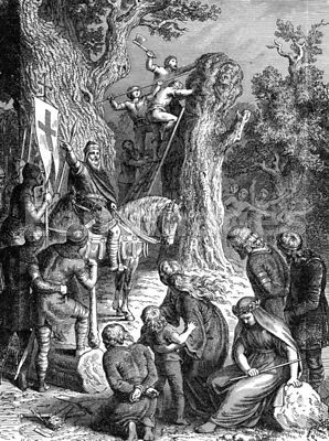 Boniface orders felling of sacred Saxon oak