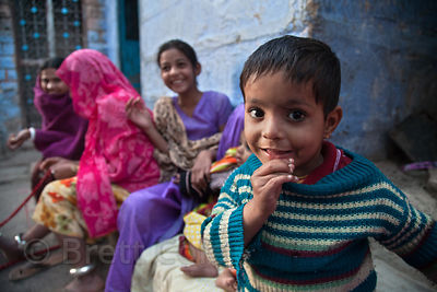 Family in Jodhpur, Rajasthan, India