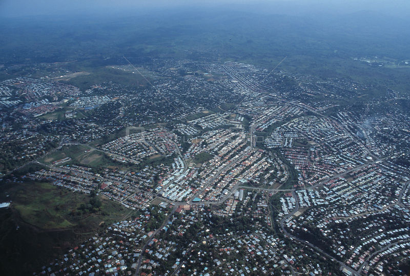 PANAMA Panama City -- Apr 1995 -- Aerial view of San Miguelito - a district of Panama City -- Picture by Jonathan Mitchell/At...