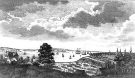 Battle of Long Island during American Revolution