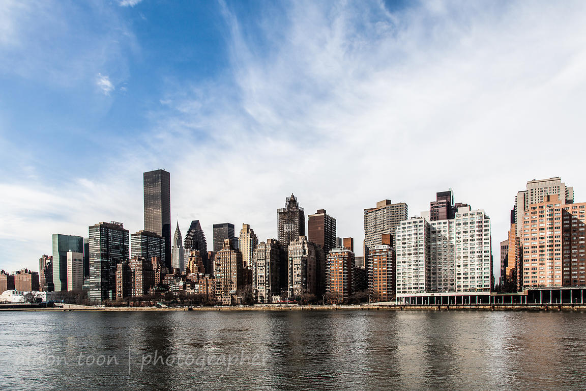 Manhattan as seen from Roosevelt Island, NY
