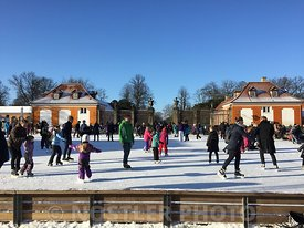 The ice rink at Frederiksberg Runddel