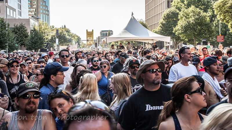 People having fun at SacTown Rocks, 2014