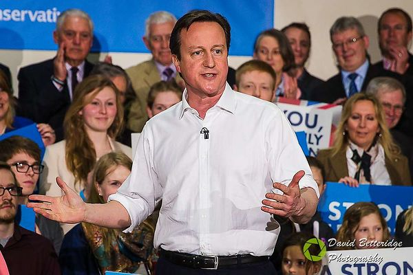 David Cameron attends Election Rally in Corsham