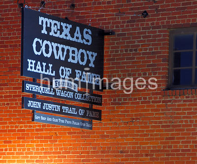 Texas Cowboy Hall of Fame Ft. Worth Texas Stockyards (sign)