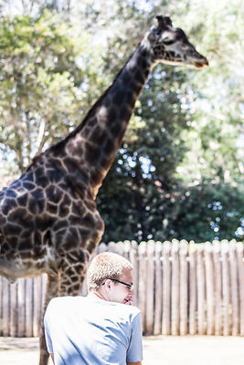 Rhynan and giraffe