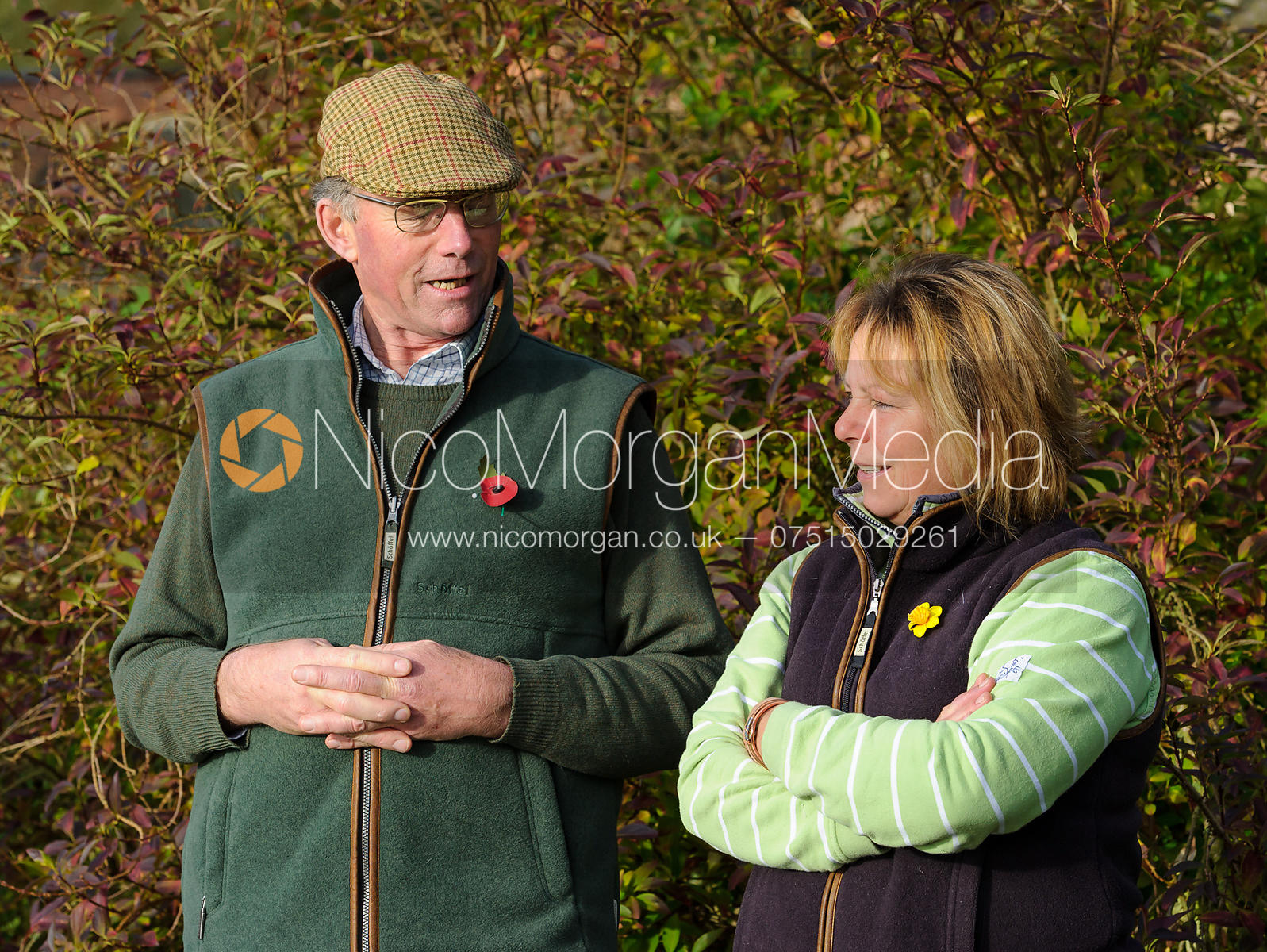 William Cross and Davina West - The Cottesmore Hunt at Braunston, 12-11-13.