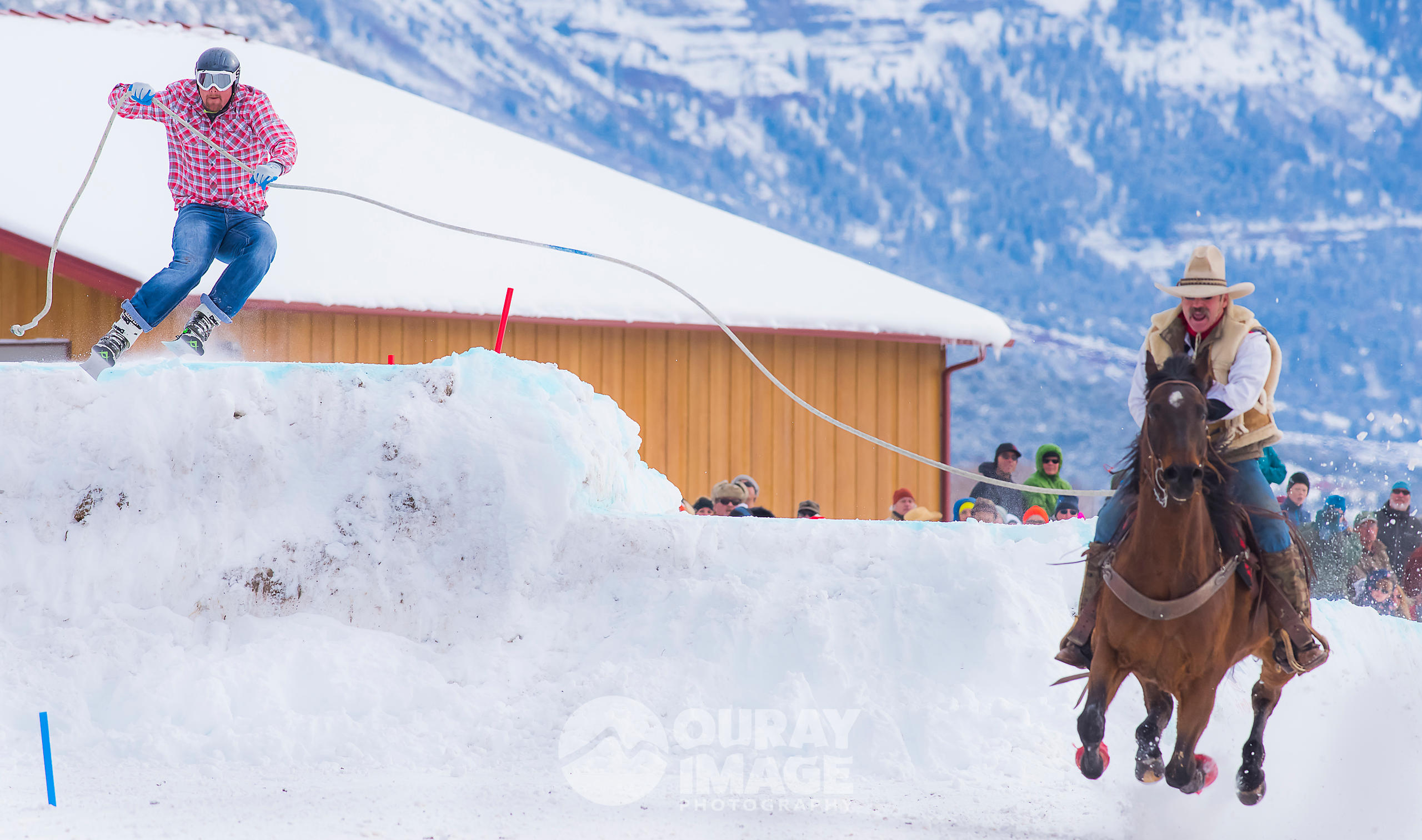 Skijoring Competition in Ridgway